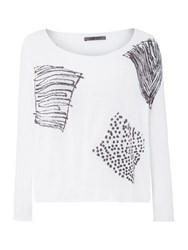 Crea Concept Square Print Jumper Dark Grey