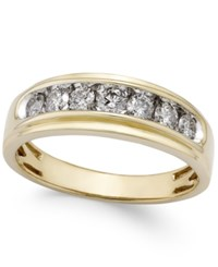 Macy's Men's Diamond Band 3 4 Ct. T.W. In 10K Gold Yellow Gold