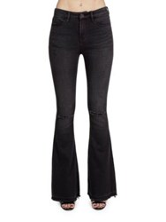 Cult Of Individuality Leisure Flare Five Pocket Bootcut Jeans Black Aged