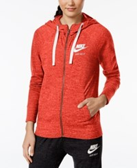 Nike Gym Vintage Full Zip Hoodie Max Orange