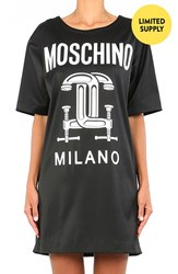 Women's Moschino '2Nd Story' Short Sleeve Graphic T Shirt Dress Black
