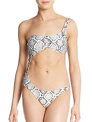 Vix By Paula Hermanny Serpent Cut Out Swimsuit White Multi