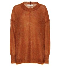 Etoile Isabel Marant Chestery Mohair Blend Sweater Brown