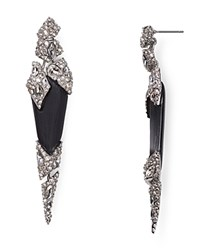 Alexis Bittar Lucite Shattered Spike Drop Earrings Black