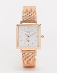 Johnny Loves Rosie Square Watch Gold