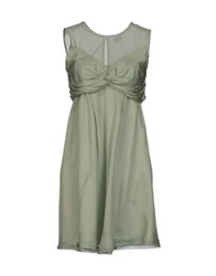 Scee By Twin Set Short Dresses Light Green