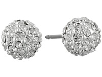 Lauren Ralph Lauren Pave Ball Stud Earrings Silver Crystal Earring