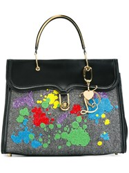 Olympia Le Tan Embellished Tote Black