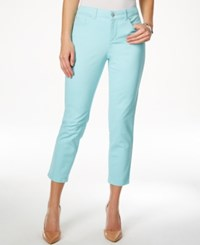Charter Club Petite Cropped Angel Blue Wash Jeans Only At Macy's