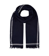 Claudie Pierlot Metallic Trim Scarf Blue