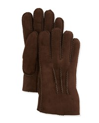 Ugg Shearling Gauge Point Gloves Chocolate