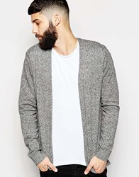 Asos Cotton Buttonless Cardigan Blackwhitetwist