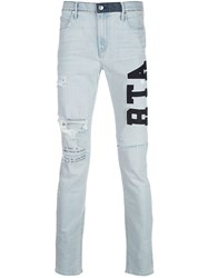 Rta High Rise Skinny Fit Logo Embroidered Jeans 60