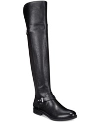 Bar Iii Daphne Block Heel Over The Knee Riding Boots Only At Macy's Women's Shoes Black
