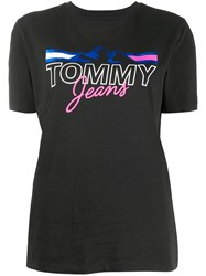 Tommy Jeans Graphic Logo Print T Shirt Black