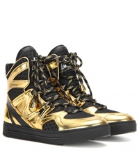 Marc By Marc Jacobs Ninja High Top Sneakers Gold