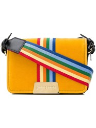 Palm Angels Iconic Mini Bag Yellow And Orange