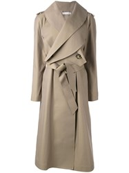 J.W.Anderson Long Belted Coat Nude Neutrals
