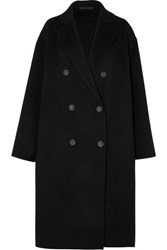 Acne Studios Odethe Double Breasted Wool And Cashmere Blend Coat Black