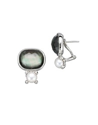 Honora Style Sterling Silver And Fresh Water Pearl Doublet Earrings
