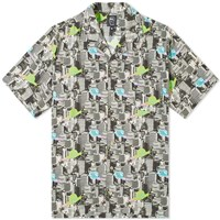 Brain Dead Short Sleeve Snail Print Shirt Black