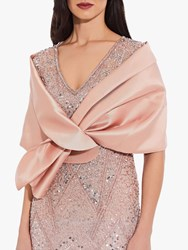 Adrianna Papell Mikado Pull Through Wrap Blush