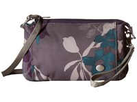 Haiku Stride Flower Fall Print Cross Body Handbags Purple