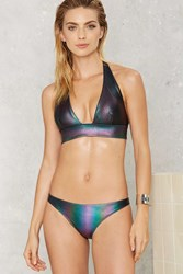 Nasty Gal Skye Oil Slick Hologram Bikini Bottom