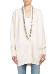 Givenchy Chain Detail Oversized Cashmere Cardigan Skin