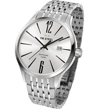 Tw Steel Tw1307 Slim Line Stainless Watch Stainless Steel