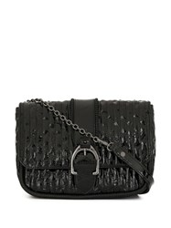 Longchamp Textured Crossbody Bag Black
