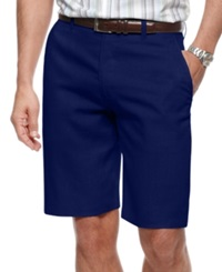 Tasso Elba Shorts Piece Dyed Linen Shorts Navy