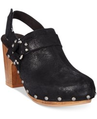 White Mountain Wisteria Slingback Studded Clogs Women's Shoes Black