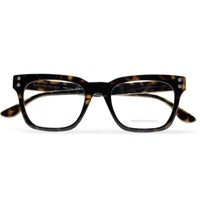 Bottega Veneta Square Frame Tortoiseshell Acetate Optical Glasses Tortoiseshell