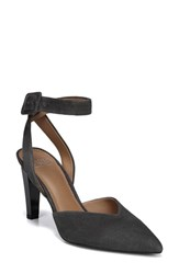 Franco Sarto By Santi Ankle Strap Pump Storm Grey Suede