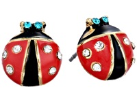 Betsey Johnson Ladybug Studs Black Red Earring