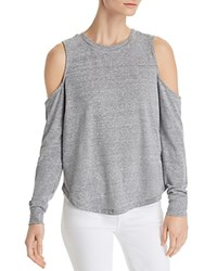 Honey Punch Cold Shoulder Tee Heather Gray
