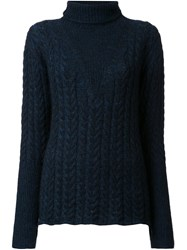 08Sircus Cable Knit Jumper Blue