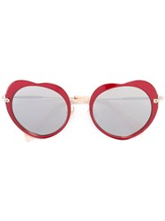 Miu Miu Eyewear Heart Shaped Sunglasses Red