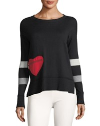 Lisa Todd Heartthrob Cotton Cashmere Sweater Black