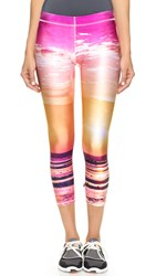Zara Terez Neon Sunset Performance Capris Multi