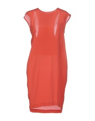 Manila Grace Dresses Short Dresses Women Brick Red