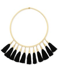 Vince Camuto Gold Tone Jet Multi Tassel Statement Necklace