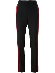 Haider Ackermann Two Tone Tailored Trousers Black