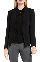 Vince Camuto Women's Collarless Open Front Blazer Rich Black