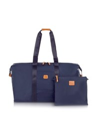Bric's X Bag Large Foldable Last Minute Holdall In A Pouch Blue
