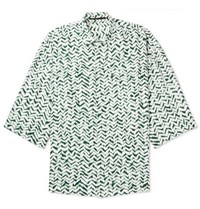 Haider Ackermann Oversized Printed Voile Shirt Green