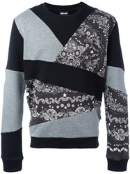 Just Cavalli Patchwork Sweatshirt Black