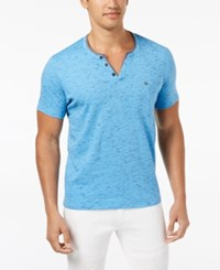 Inc International Concepts I.N.C. Speckled Henley Shirt Created For Macy's Blue Point