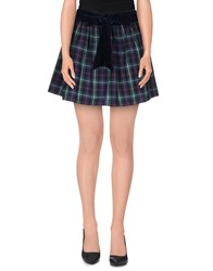 Maison Espin Mini Skirts Green